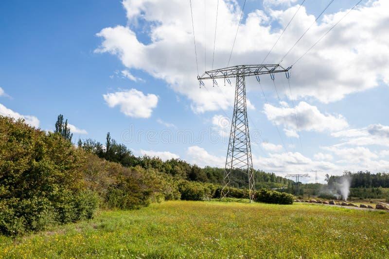 Een Elektriciteitspool stock foto's