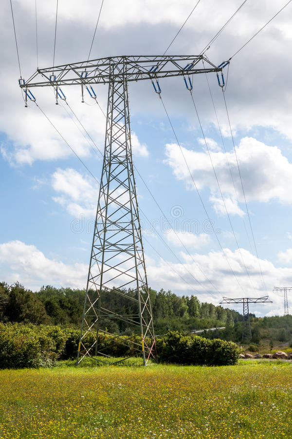 Een Elektriciteitspool royalty-vrije stock fotografie