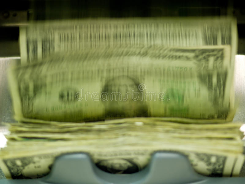 Een elektronisch geld counte stock afbeeldingen