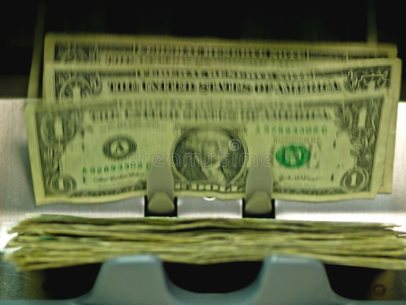 Een elektronisch geld counte royalty-vrije stock afbeelding