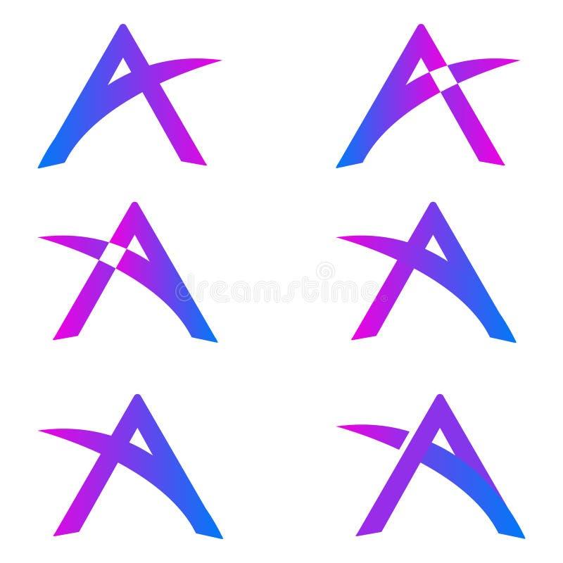 Een embleem van de Brief stock illustratie