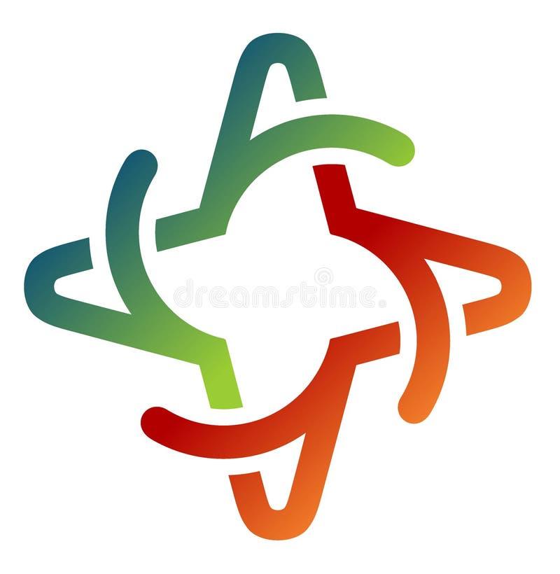 Een embleemontwerp roteert in de vorm van een ster stock afbeelding