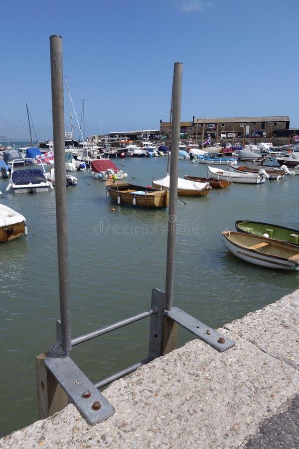 Een Engelse haven stock afbeelding
