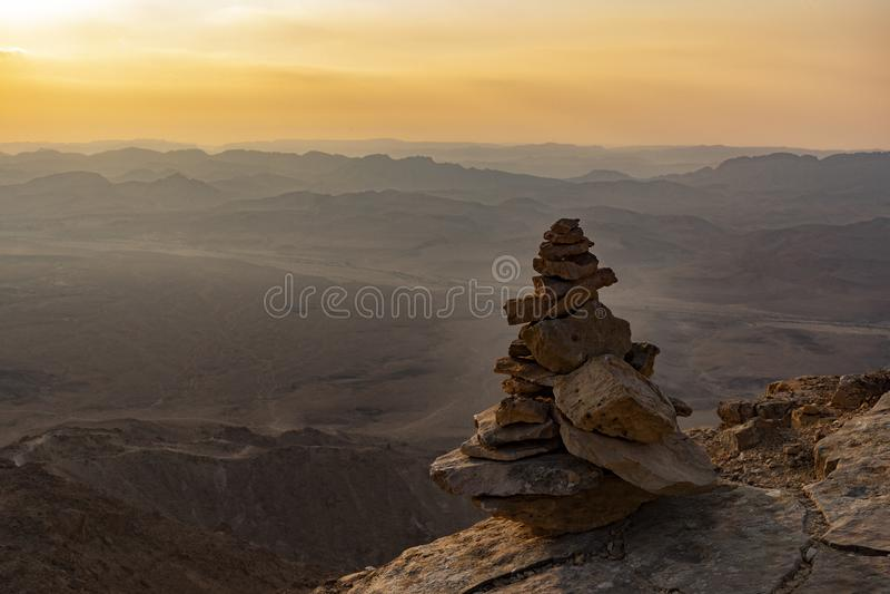 Een Evenwichtige Stapel van Stenen stock afbeelding