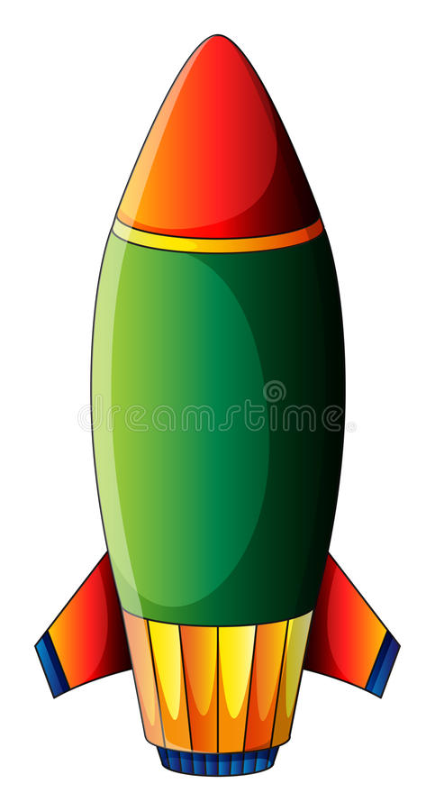 Een explosieve bom stock illustratie