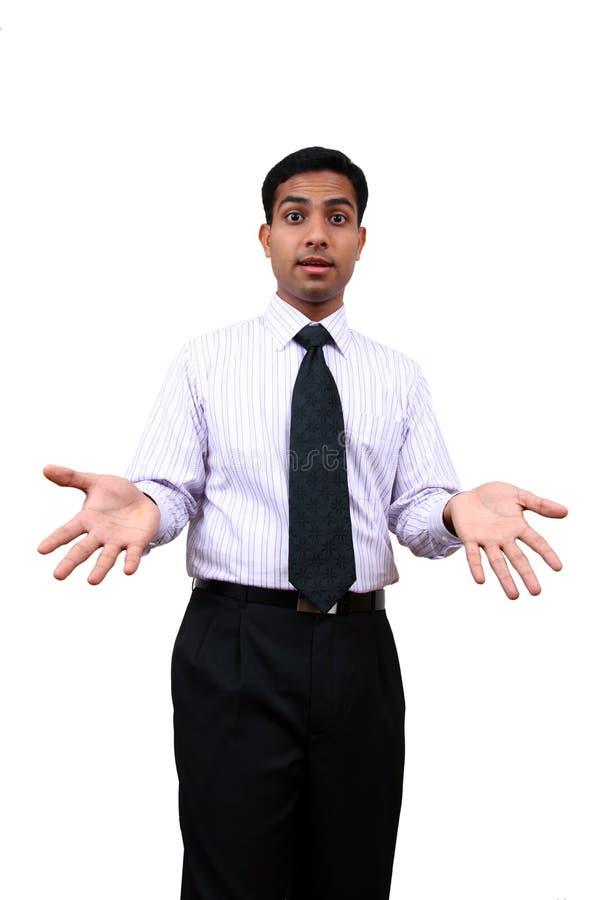 Een expressief Indisch mannetje. stock foto's
