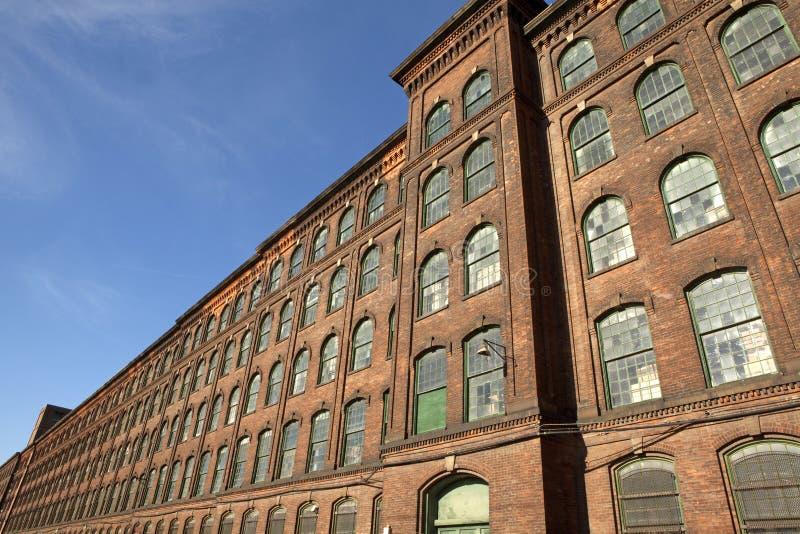 Een fabriek, Jersey stock afbeeldingen