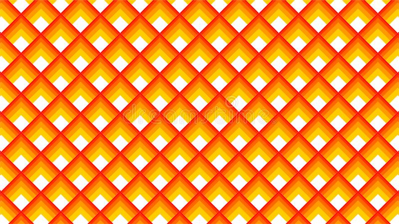 Een fantastische achtergrond voor een groep gradiëntvierkanten in kleuren tussen oranje, gele kleur en witte kleur, harmonische o vector illustratie