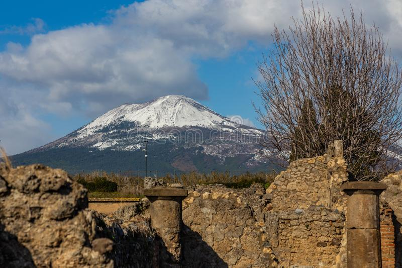 Een fascinerende reis door de ru?nes van de oude stad van Pompei, Itali? royalty-vrije stock fotografie