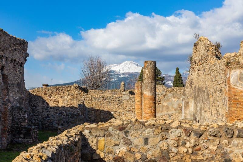 Een fascinerende reis door de ru?nes van de oude stad van Pompei, Itali? stock afbeelding