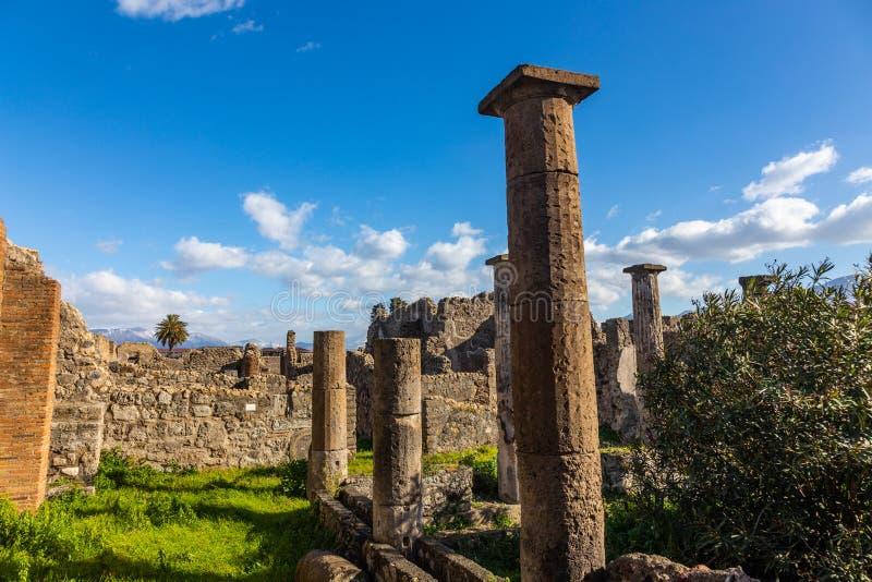 Een fascinerende reis door de ru?nes van de oude stad van Pompei, Itali? stock fotografie