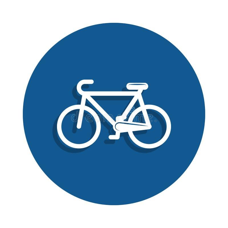 een fietspictogram in Kentekenstijl Één van het pictogram van de sportinzameling kan voor UI, UX worden gebruikt royalty-vrije illustratie