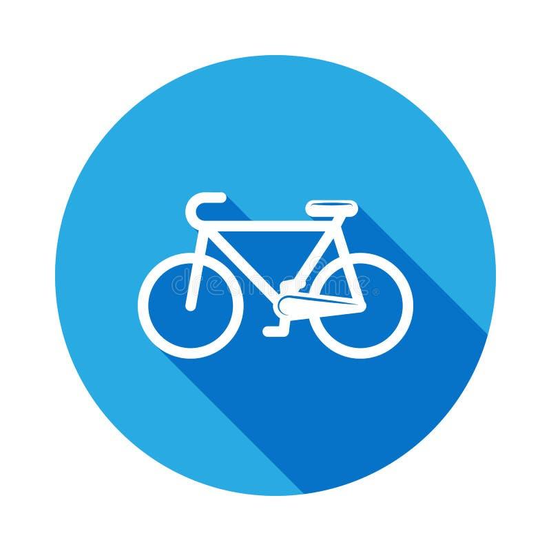 een fietspictogram met lange schaduw Element van sportpictogram voor mobiel concept en Web apps Isoleerde een fietspictogram kan  royalty-vrije illustratie