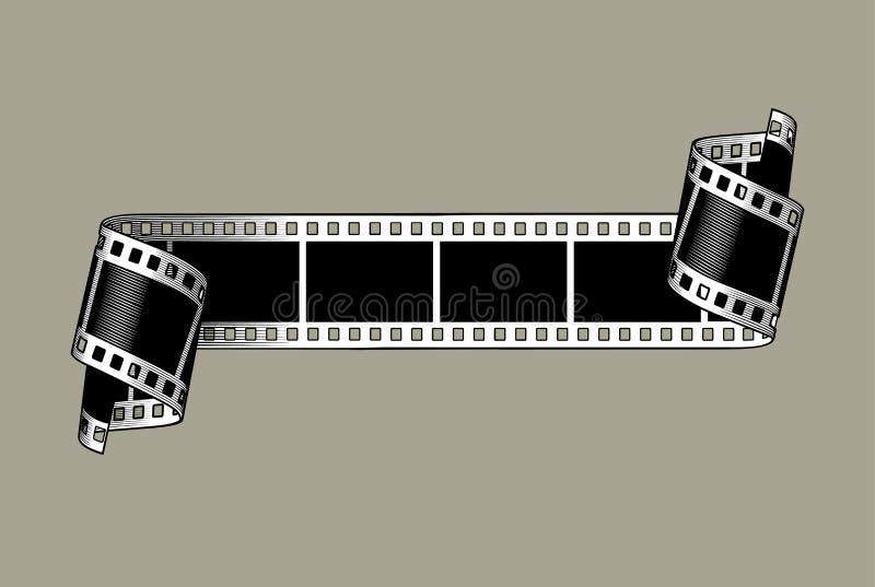 Een filmstreep met verdraaide einden vector illustratie