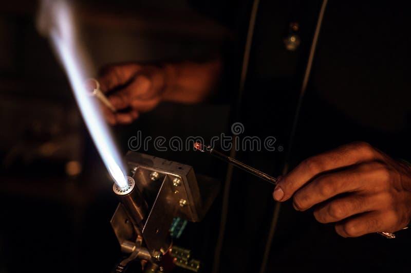 Een Flameworkers-Toorts royalty-vrije stock afbeeldingen