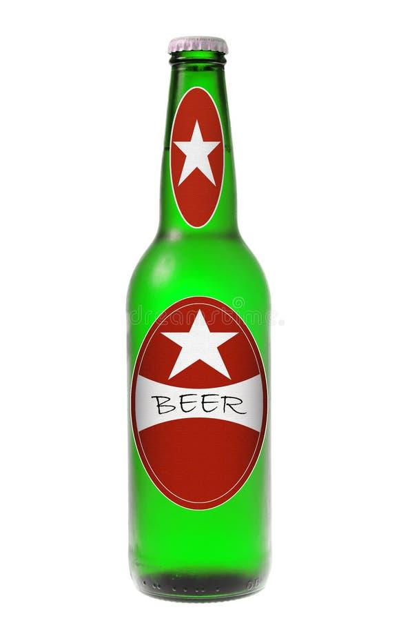 Een fles bier stock fotografie