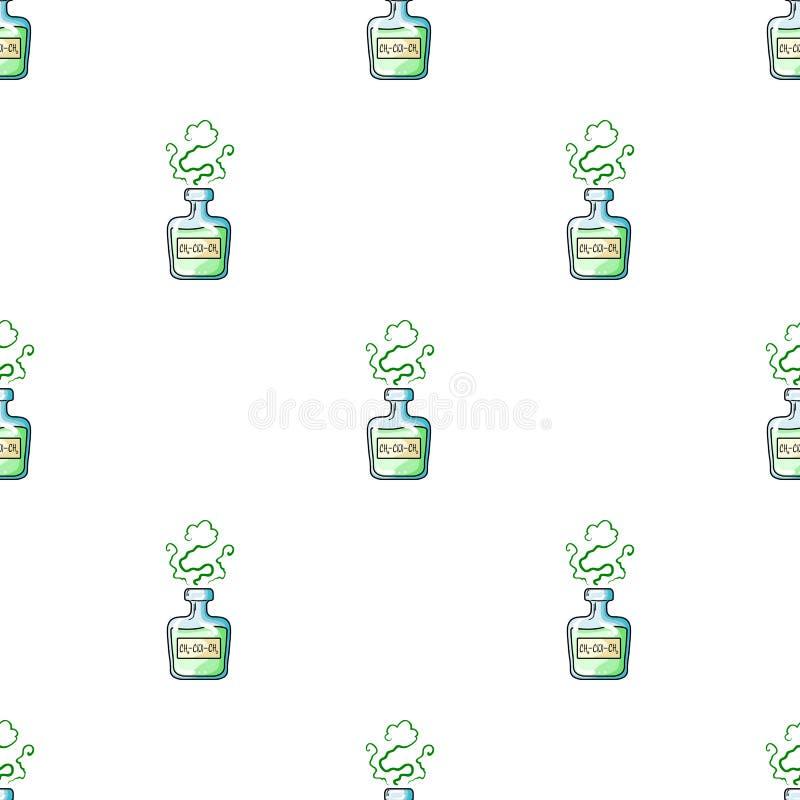 Een flesje groen drankje Geneesmiddelen voor diabetici stock illustratie