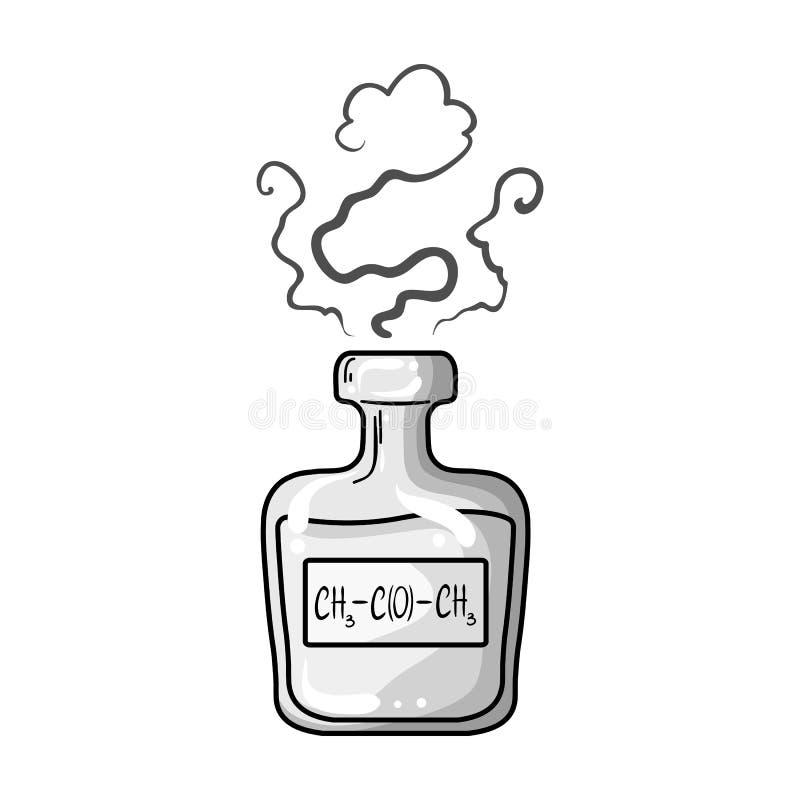 Een flesje groen drankje Geneesmiddelen voor diabetici Diabetes enig pictogram in zwart-wit de voorraadillustratie van het stijl  stock illustratie