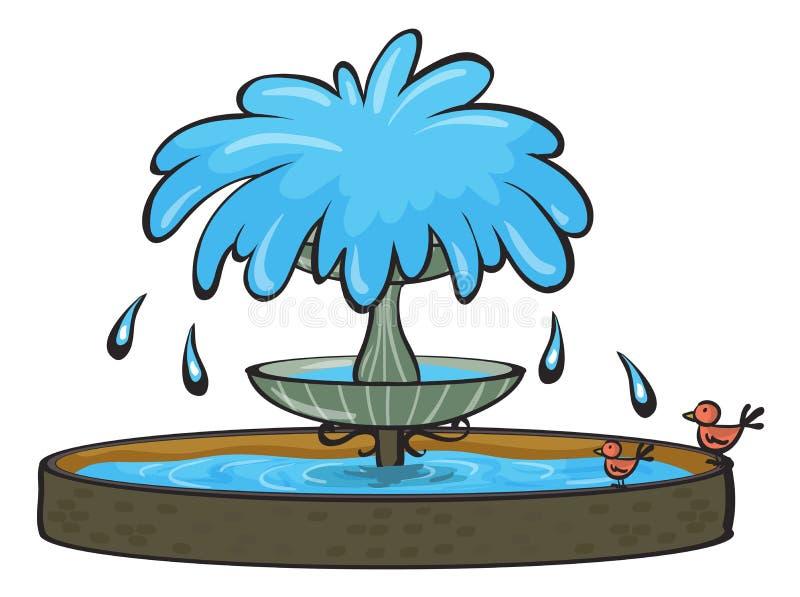 Een fontein royalty-vrije illustratie
