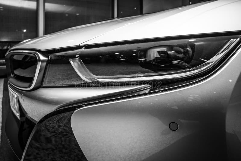 Een fragment van de auto BMW i8 royalty-vrije stock afbeelding