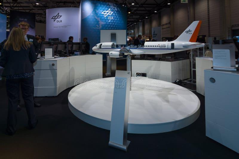 Een functionele modelvliegtuigenluchtbus A320 ATRA stock afbeeldingen