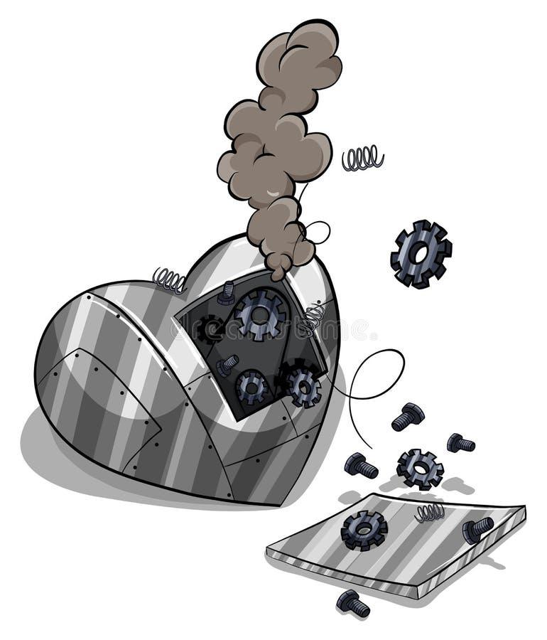 Een gebroken hart royalty-vrije illustratie