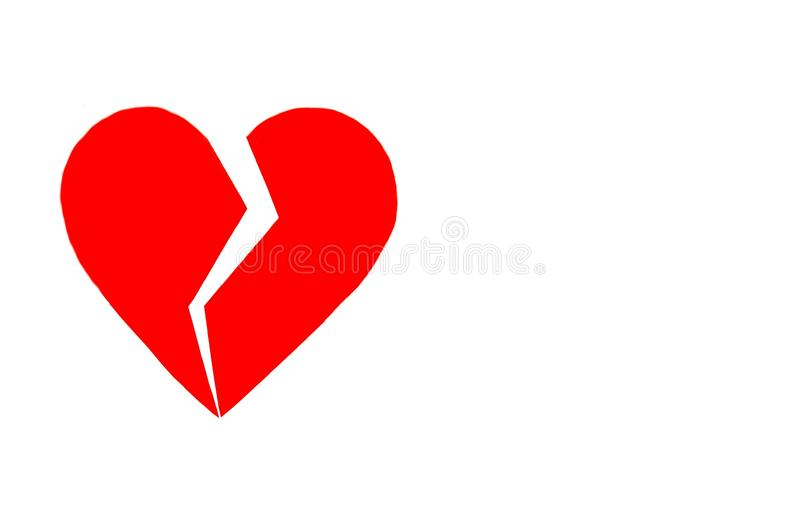 Een gebroken hart kan niet samen worden gestikt of worden gelijmd stock afbeelding