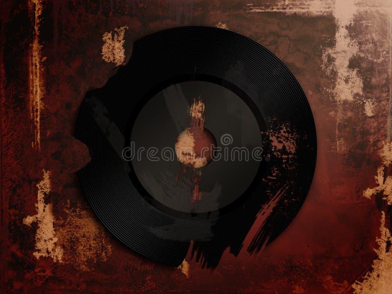Een gebroken vinyl vector illustratie