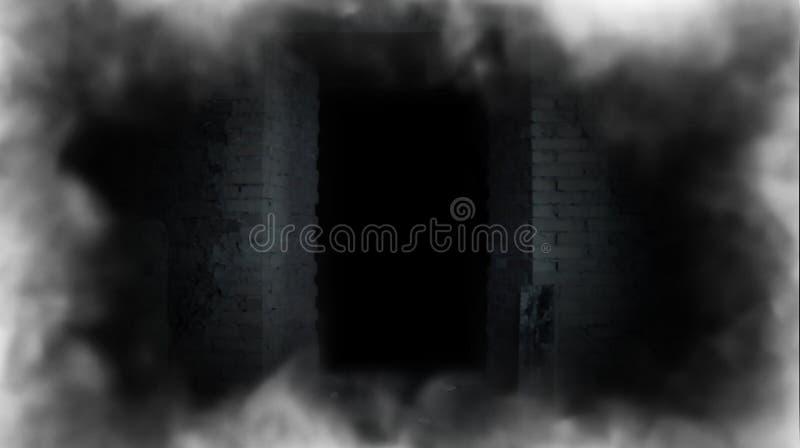 Een geheimzinnige deur Deur aan onbekend royalty-vrije illustratie