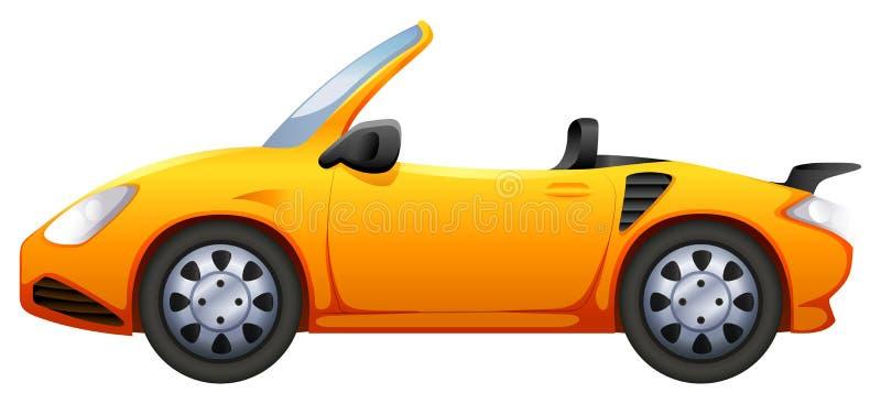 Een gele sportwagen vector illustratie