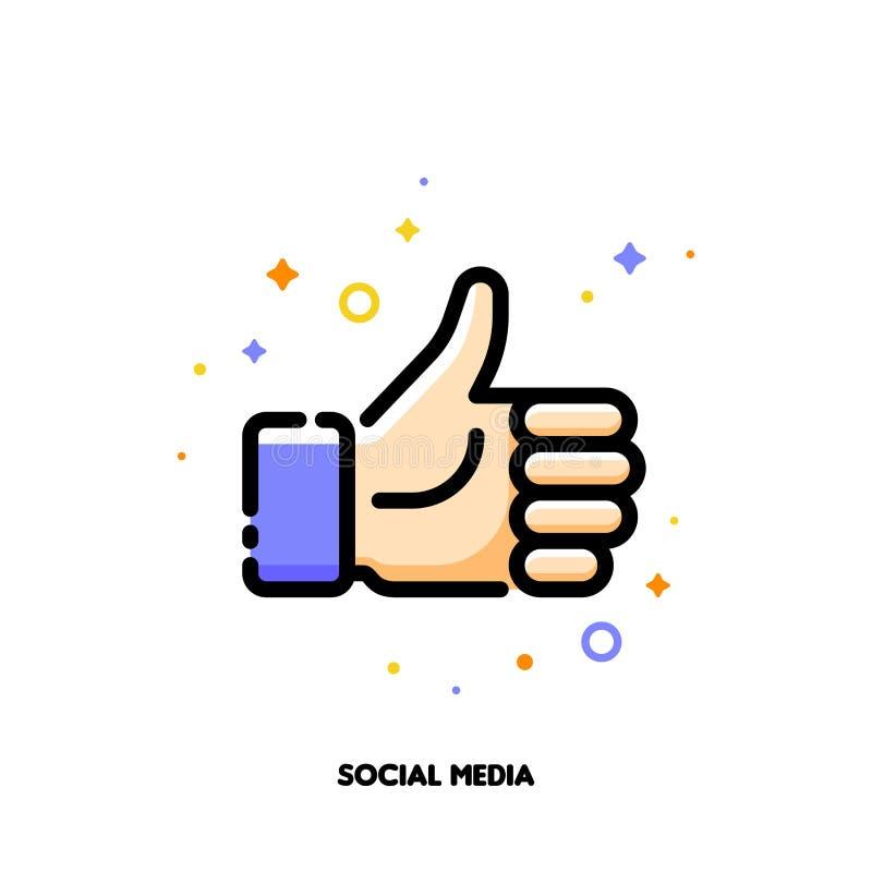 Een gelijkaardige knoop voor de sociale voorzien van een netwerkdiensten, websites, bloggen stock illustratie