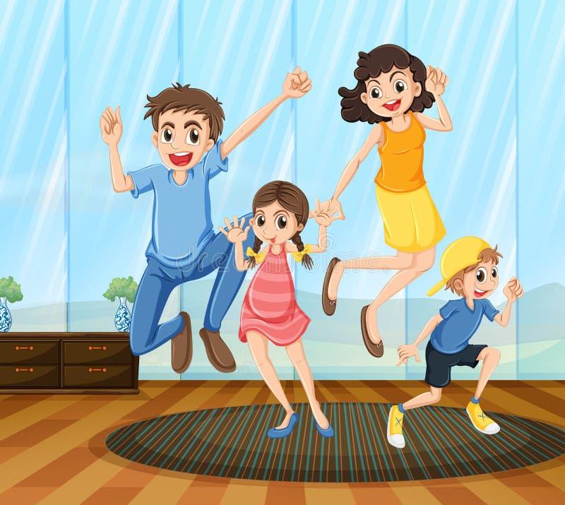 Een gelukkige familie stock illustratie