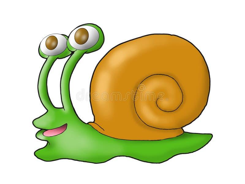 Een gelukkige groene slak vector illustratie