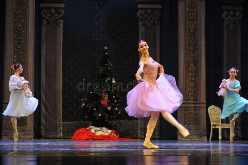 Een gelukkige prinses Clara-The Ballet Nutcracker royalty-vrije stock afbeelding