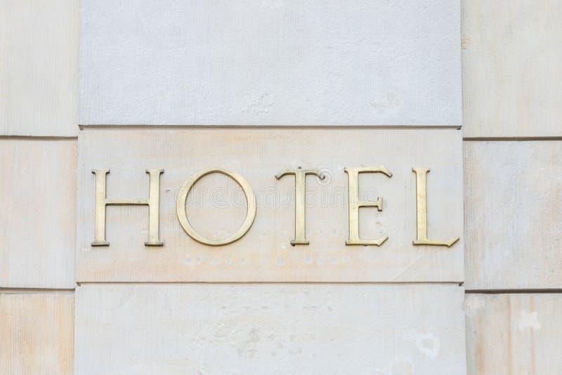 Een generisch hotelteken stock afbeelding