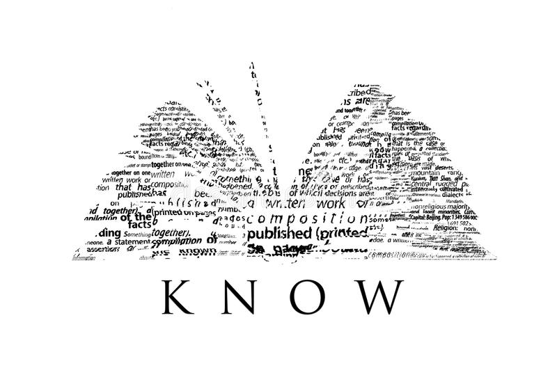 Een geopend die boek van woorden wordt gemaakt vector illustratie