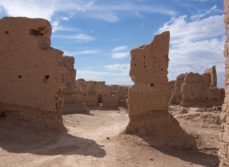 Een geruïneerde oude stad van Gaoch stock foto's