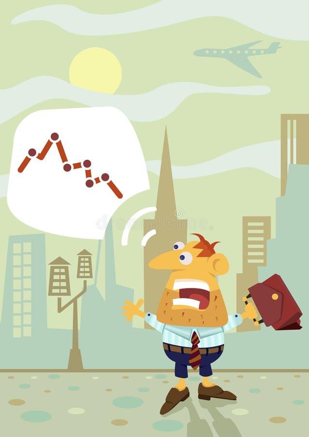 Een geschokte zakenman vector illustratie