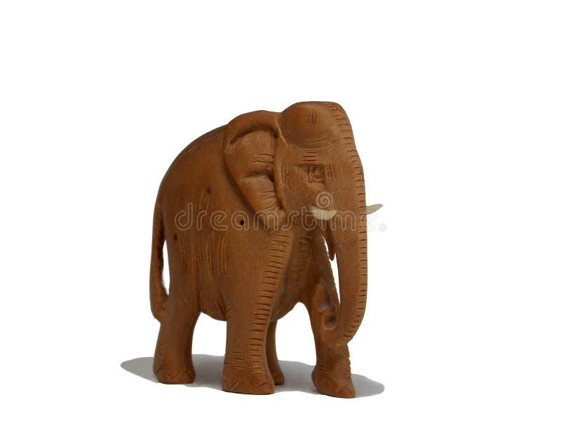 Een gesneden houten olifant van India stock afbeeldingen