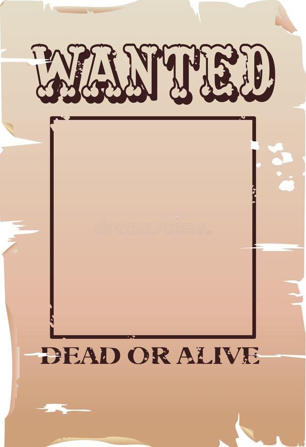 Een gewilde affiche vector illustratie