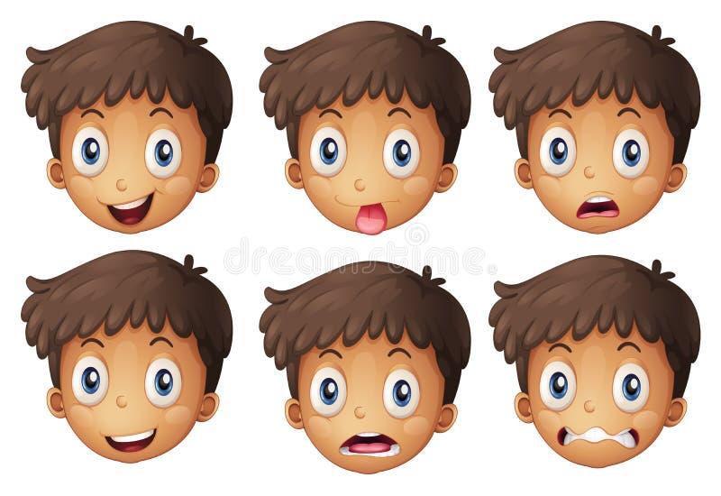 Een gezicht van een jongen stock illustratie