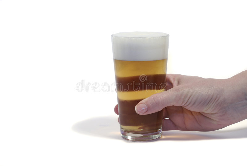 Een glas bier stock afbeelding