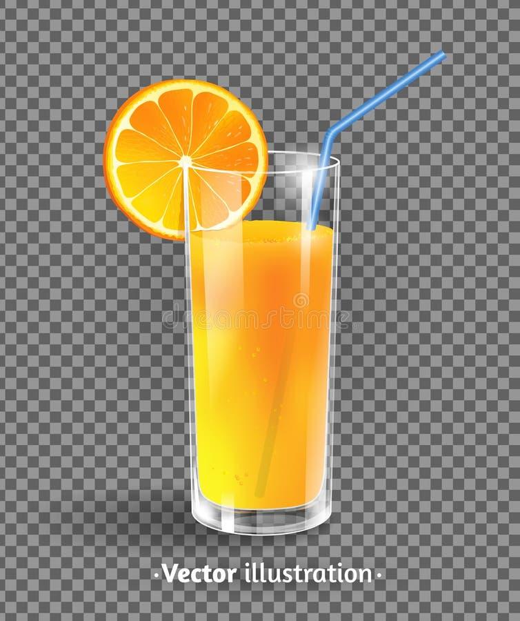 Een glas jus d'orange stock illustratie