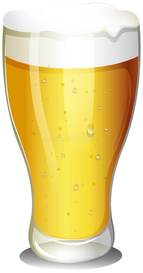 Een glas koud bier royalty-vrije illustratie