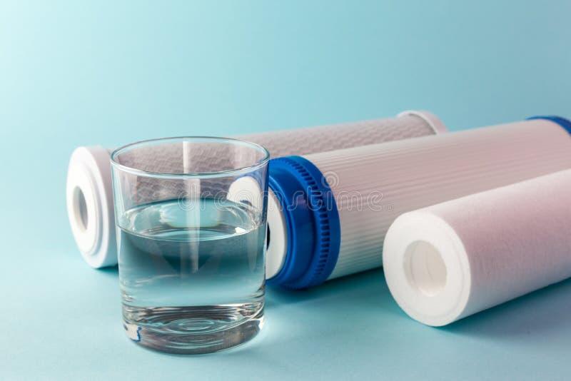 Een glas water royalty-vrije stock afbeelding