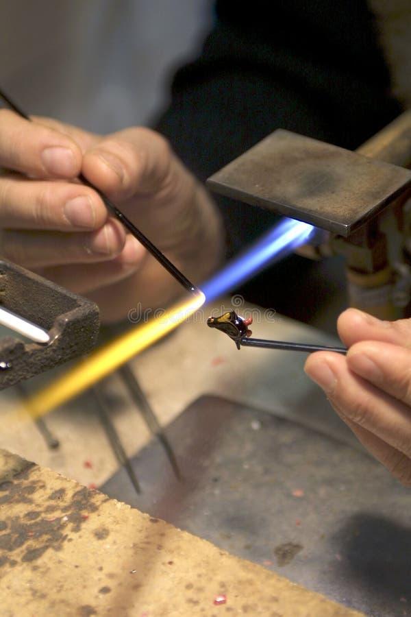 Een glasventilator maakt miniatuurdieren, Venetië stock foto's