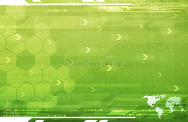 Een globale Bedrijfs Abstracte groene Achtergrond stock foto's