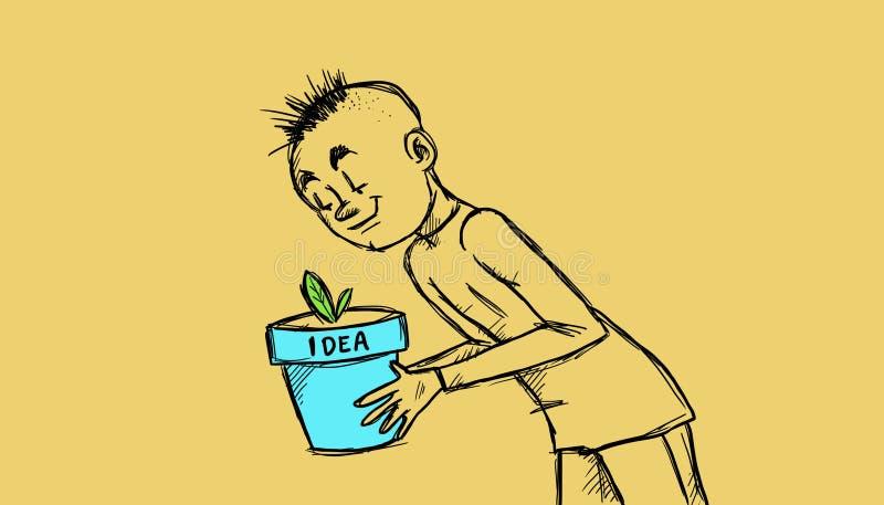 Een goed-genomen zorg van idee vector illustratie