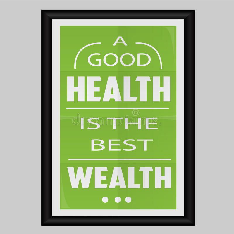 Een Goede Gezondheid is de Beste Rijkdom vector illustratie