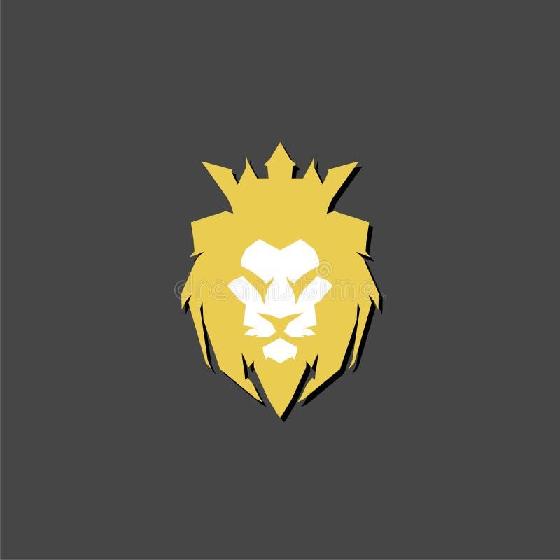 Een gouden leeuw met een kroonembleem vector illustratie